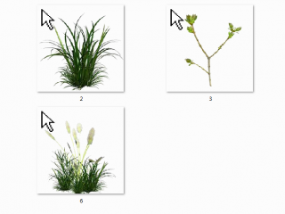 小清新绿色植物win7鼠标指针