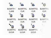 蓝色企鹅卡通鼠标指针主题包下载
