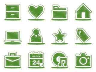 小清新绿色元素桌
