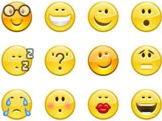 可爱黄色emoji表情