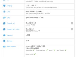中兴6英寸新机运行Android 7.1.1