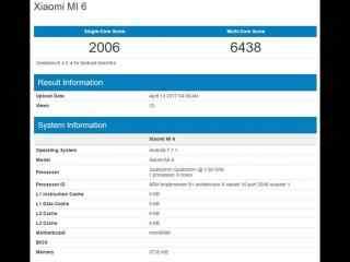 小米6现身Geekbench 6GB版本跑分