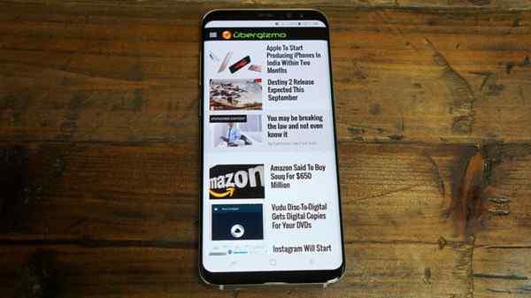 三星Note8采用S8同款屏幕