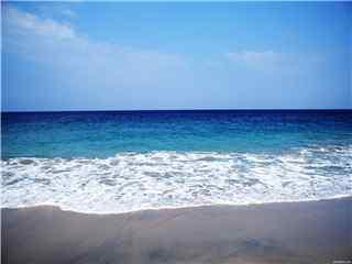 夏日清凉唯美海滩桌面壁纸 夕阳海滩图片