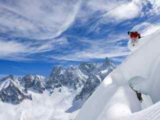 滑雪运动图片 极限滑雪桌面 极限滑雪特写
