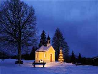 雪景小屋摄影高清壁纸 唯美雪景小屋 林中小屋