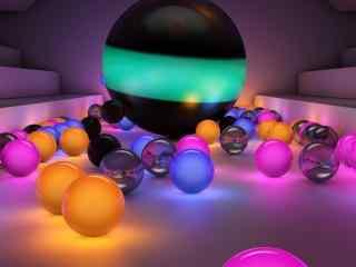 三维立体球体壁纸 动感设计壁纸 创意三维设计高清壁纸