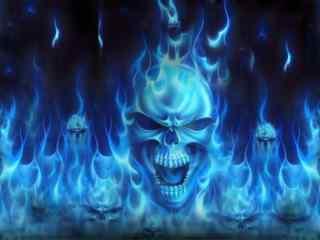 恐怖的骷髅壁纸 骷髅精灵 骷髅图片