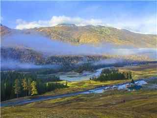美丽新疆自然风光壁纸 新疆喀纳斯 新疆旅游