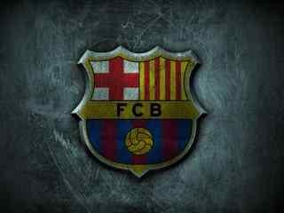 巴塞罗那队标桌面壁纸 足球壁纸
