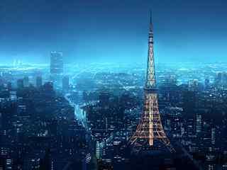 法国巴黎美景图片 法国巴黎建筑壁纸 巴黎城市夜景桌面