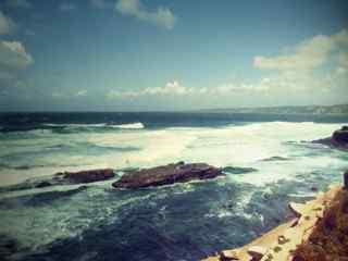 唯美夕阳大海风景图片 黄昏大海桌面壁纸 唯美大海插图桌面