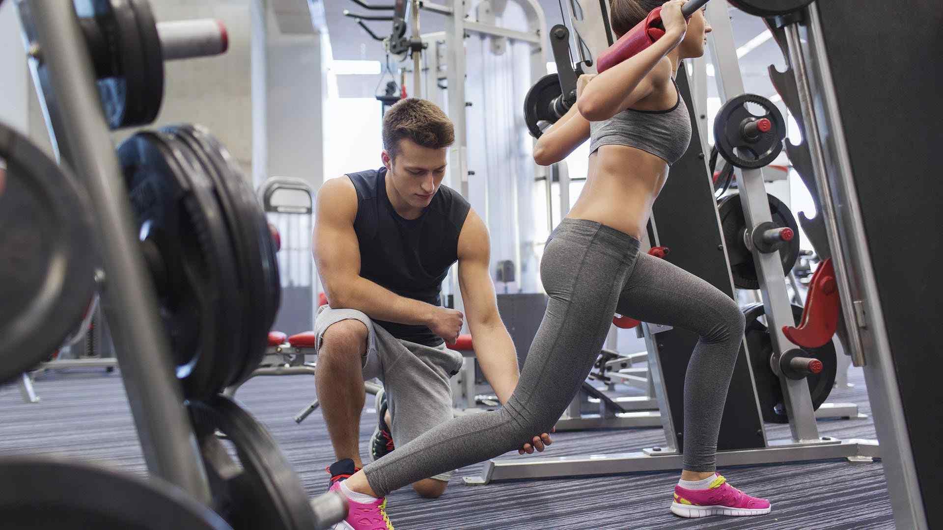 健身房运动系列 健身图片 有氧健身 健身女神