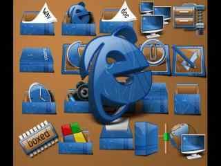 立体IP图标包 黑色IP图标包 简约图标包
