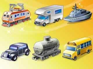 日常使用工具图标图片 常见工具图标 交通工具图标