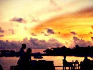 海边唯美风景图片 黄昏海边风景高清壁纸 海边海浪图片