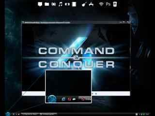玻璃质感xp桌面主题 时尚Windows电脑主题下载 半透明主题下载