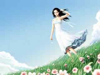 动漫少女唯美图片 魅力少女卡通壁纸 萌萌的美少女