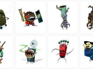 怪物PNG图标下载  呆萌怪物电脑图标 卡通怪物图标下载