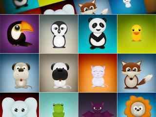 卡通动物PNG图标下载 可爱桌面图标 PNG电脑桌面图标