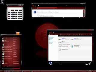 红色web主题 红色纹理系列主题 红色时尚桌面主题