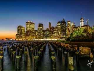 繁华都市纽约热闹桌面壁纸 纽约不夜城电脑桌面 纽约夜景图片下载