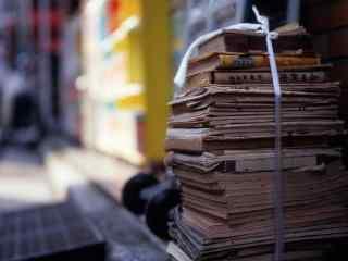 书海书香典雅电脑桌面 咖啡书本清新桌面壁纸  书籍图片下载