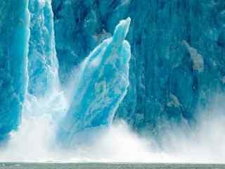 北极冰川特写桌面 北极雪山风景 北极冰河摄影