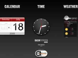 运动时钟动态屏幕保护下载 简约时钟日历彩色屏保 最新热门动态屏保