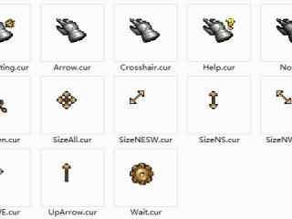 游戏类型鼠标指针 欧美游戏鼠标指针 个性游戏鼠标指针