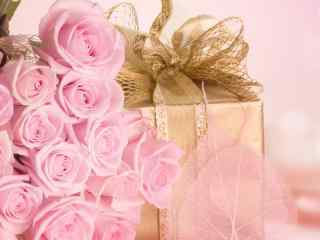 七夕情人节粉色玫瑰桌面壁纸 粉色玫瑰特写壁纸 盛开的粉色玫瑰