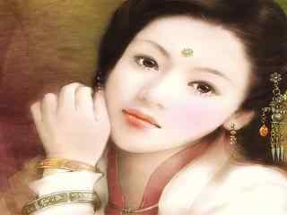 唯美古装美女高清桌面壁纸 精选古典美女图片 女星古装桌面下载