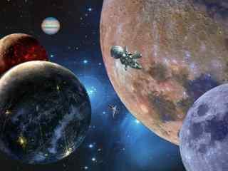 翱翔太空桌面壁纸 太空星球高清壁纸 太空图片