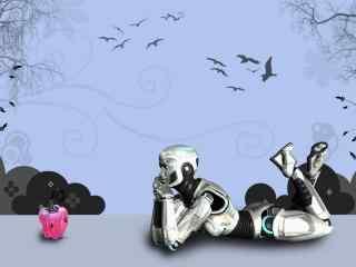 三维机器人设计壁纸 3d机器人摄影壁纸
