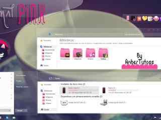 青春粉色电脑主题桌面 Windows粉色主题下载 粉色主题