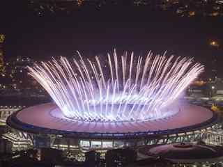 最新热门里约奥运会开幕式图片 奥运会精彩场景桌面  热内卢开幕式