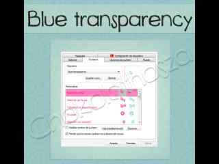 半透明桌面鼠标指针下载 蓝色半透明鼠标指针