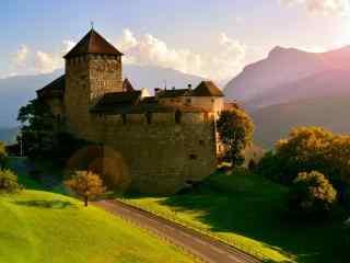 城堡风景图片下载 英德城堡桌面壁纸 古老的城堡桌面