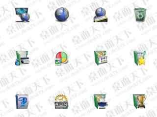 绿色质感ip桌面图标包 绿色系列ip图标包