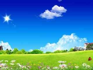 经典蓝天白云桌面壁纸 清新蓝天白云高清桌面壁纸