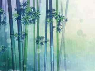 夏季绿竹桌面壁纸 幽静竹林摄影壁纸 翠竹图片