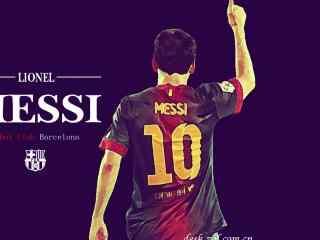 足球巨星梅西高清图片 梅西足球场踢球高清摄影壁纸