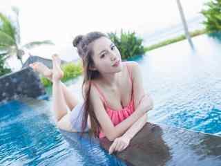 夏日小清新美女图片 青春夏日美女桌面壁纸 夏日沙滩美女图