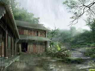 江南水乡摄影壁纸 烟雨江南高清桌面壁纸