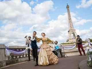 巴黎假期海报桌面壁纸 巴黎假期古天乐郭采洁高清剧照