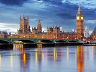 英国伦敦美景图片 伦敦城市旅游桌面壁纸 伦敦夜景美景图片