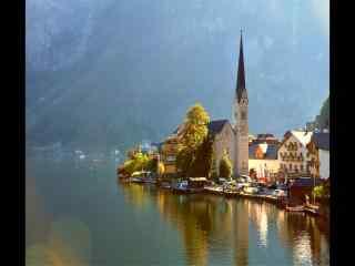 奥地利小镇风景图片 奥地利旅游圣地电脑桌面壁纸