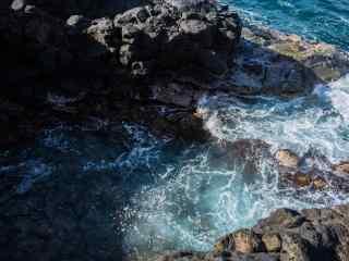海岛自然风光高清图片 海浪拍岸唯美风景桌面壁纸