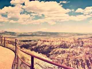 峡谷瀑布自然图片 高山峡谷桌面壁纸 山峰峡谷图片