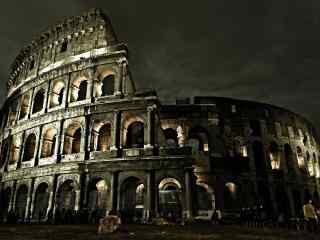 罗马古建筑风景图片 罗马自然风光桌面壁纸 罗马建筑风光图